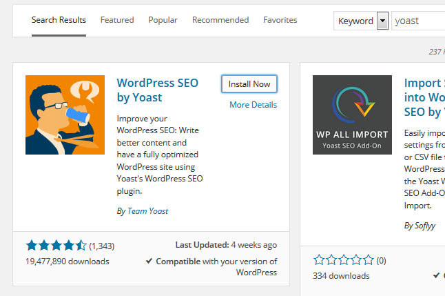 Wordpress Yoast Plugin