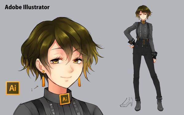 Adobe Illustrator Anime