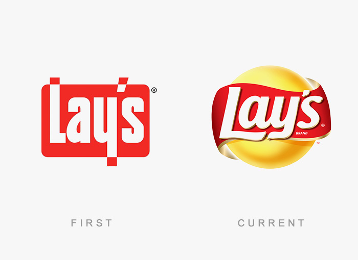 Lay's old and new logo