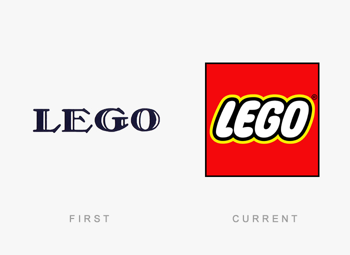 Lego old and new logo