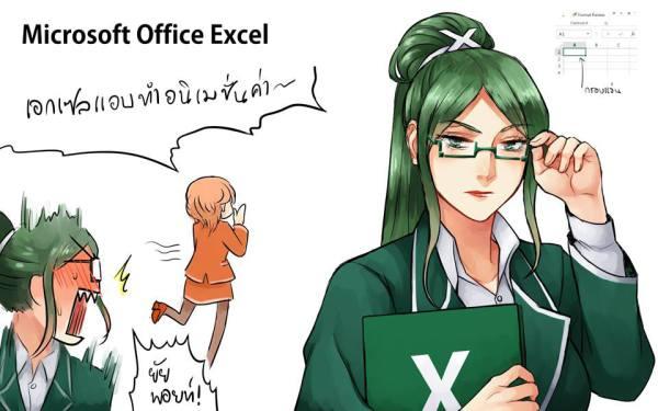 Microsoft Excel Anime