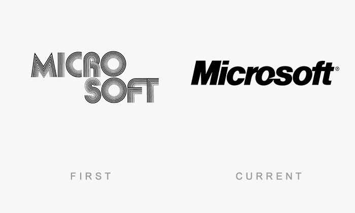 Microsoft old and new logo
