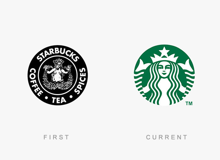 Starbucks old and new logo