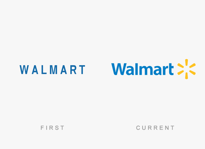 Walmart old and new logo