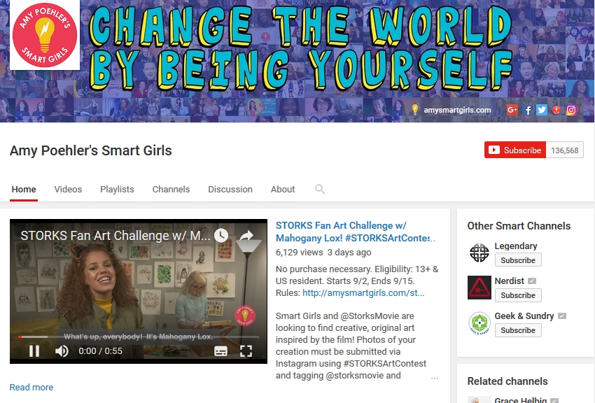 Amy Poehler Smart Girls Youtube Channel