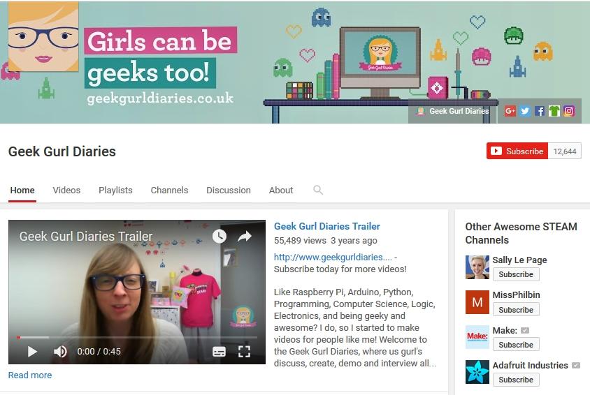 Geek Gurl Diaries Youtube Channel