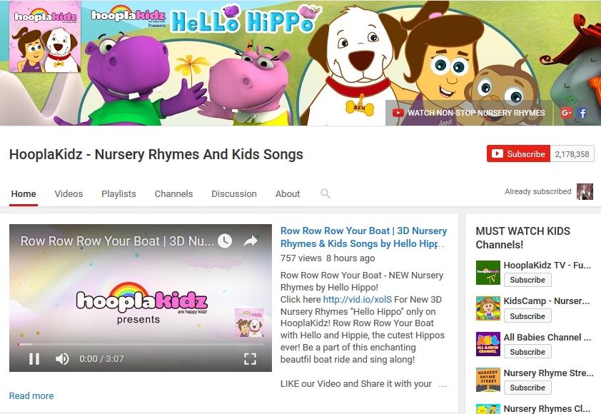 HooplaKidz Youtube Channel