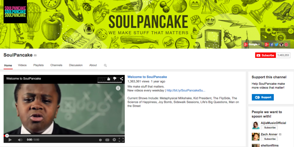 SoulPancake Youtube Channel