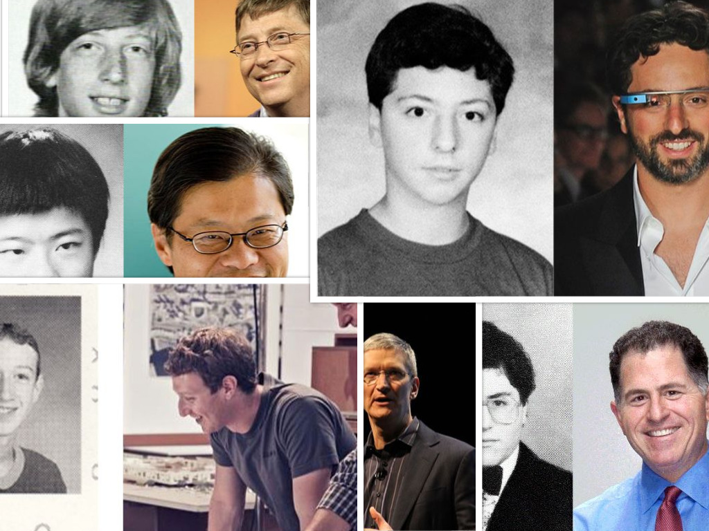 High School Picture of Today's Tech Geniuses