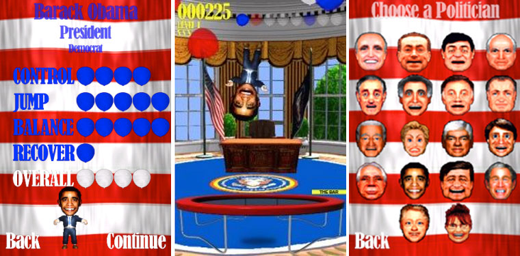 Obama Trampoline banned apps