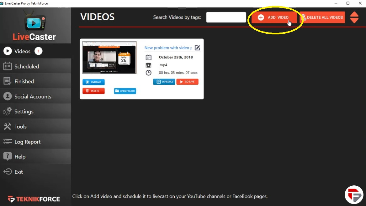 Simplest way to stream your videos on Social Media